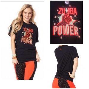 ZUMBA T-SHIRT ZUMBA POWER BLACK ONE SIZE SHIRT